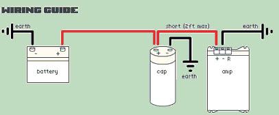 подключения к усилителю конденсатор схема