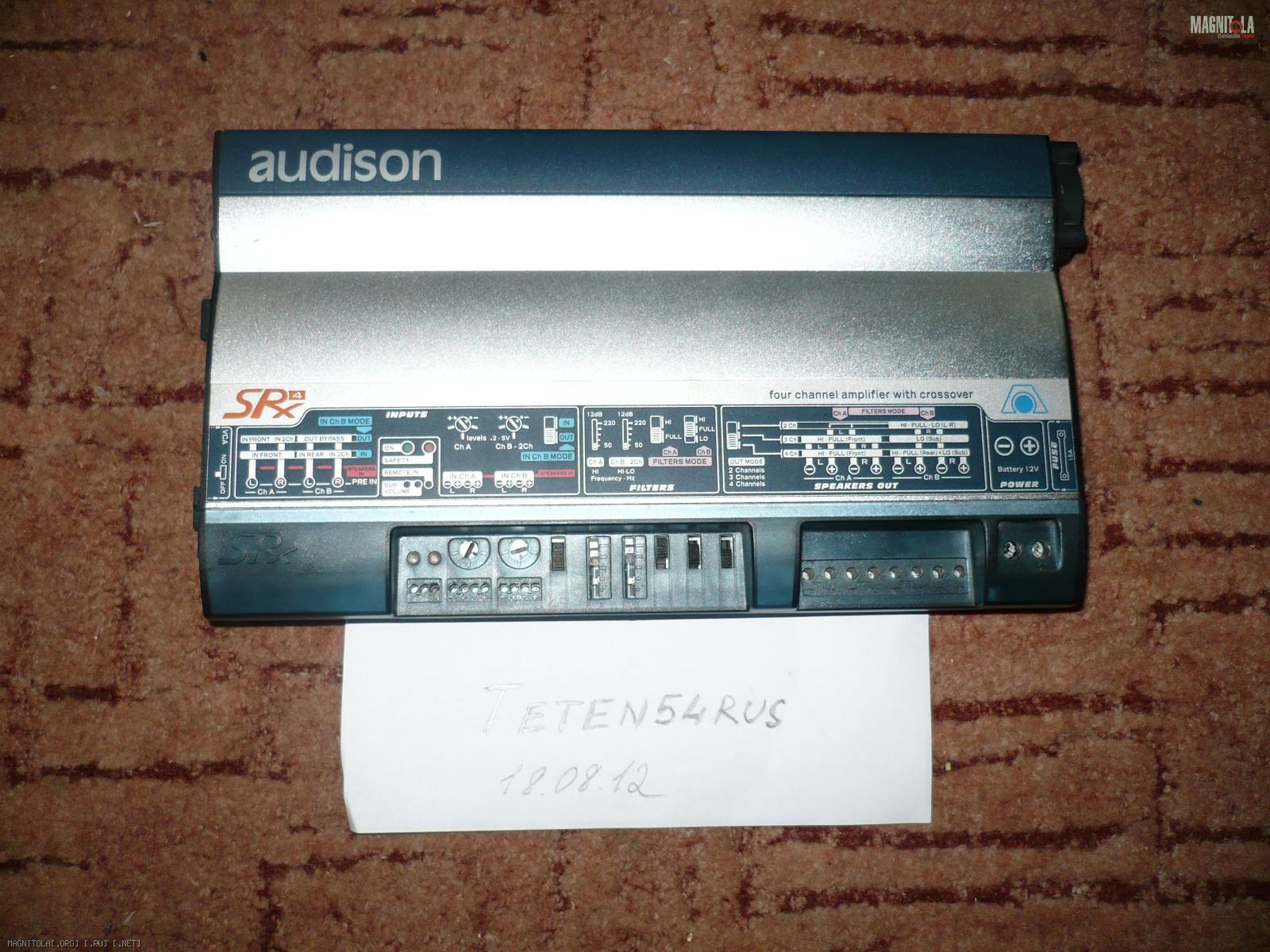Инструкция Audison Srx 4