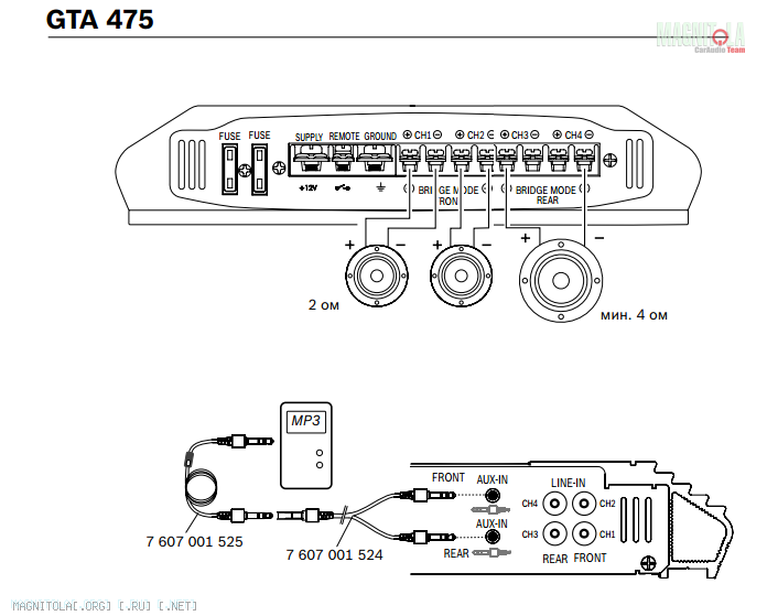 Gta 270 усилитель схема подключение