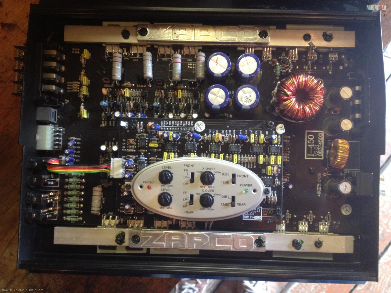 Zapco i4504 4 channel car audio stereo amplifier crossover and remote