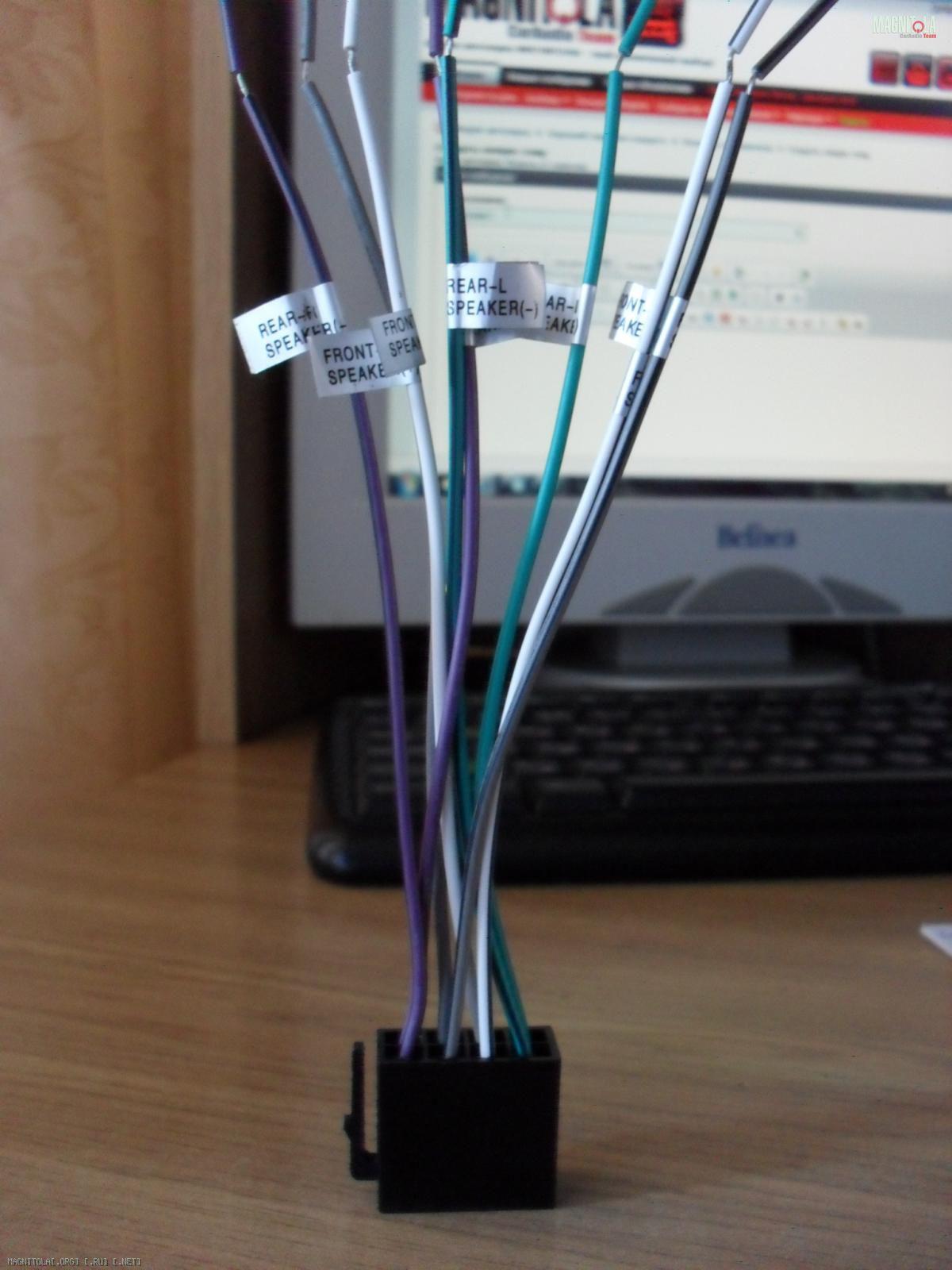схема подключения автомагнитолы pioneer den-p5730mp